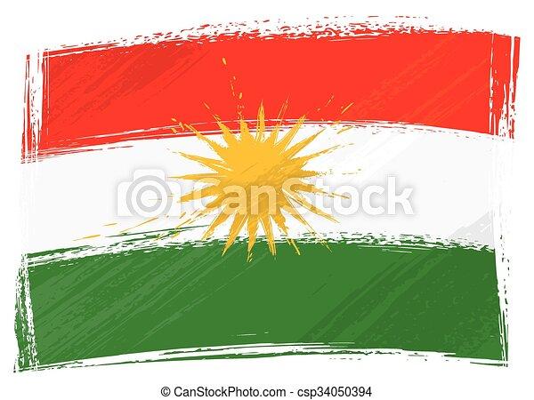 Grunge Kurdistan flag - csp34050394