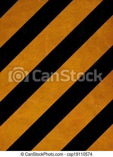 Líneas amarillas grunge - csp19110574