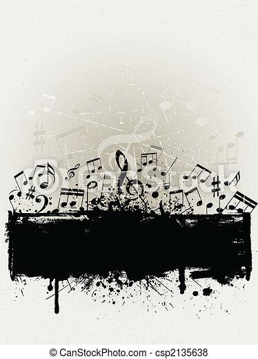 Música grunge - csp2135638