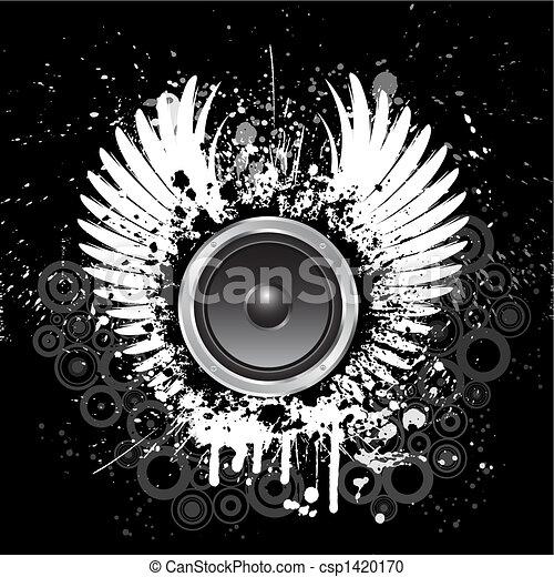 grunge, música, fundo - csp1420170
