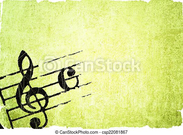 grunge melody  - csp22081867