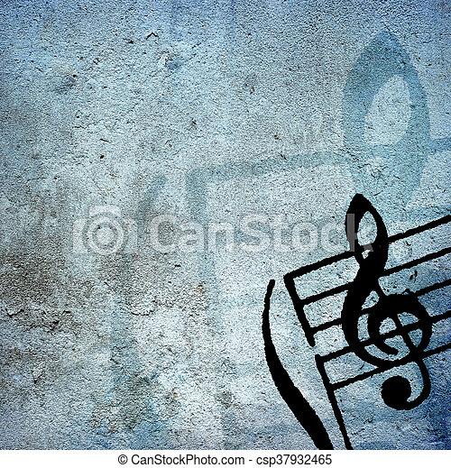grunge melody - csp37932465