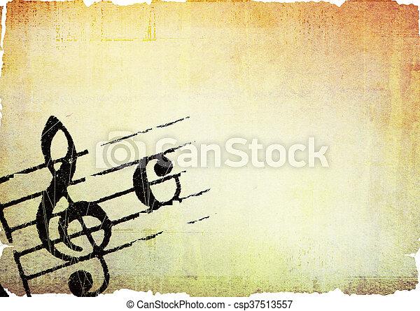 grunge melody - csp37513557