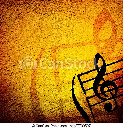 grunge melody - csp37739597