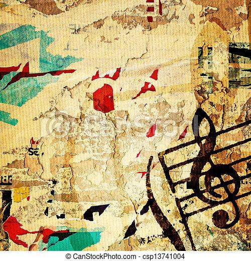 grunge melody  - csp13741004