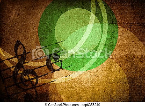 grunge melody  - csp6358240