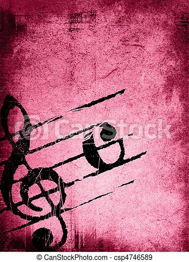 grunge melody textures  - csp4746589