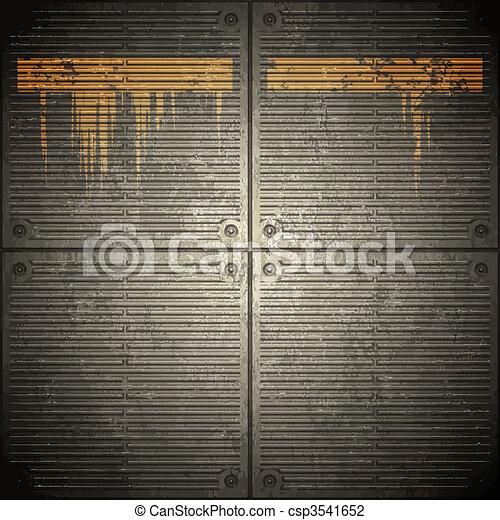 grunge metal wall background - csp3541652