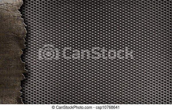 grunge, metallo, fondo - csp10768641