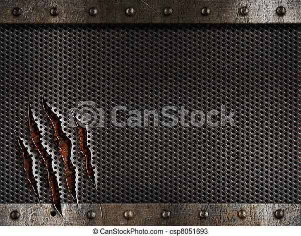 grunge, metallo, fondo - csp8051693