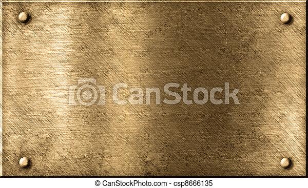 grunge, metallo, fondo - csp8666135