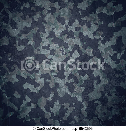 Grunge military background in blue - csp16543595