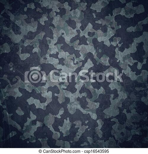 Grunge military background in blue - csp16543595