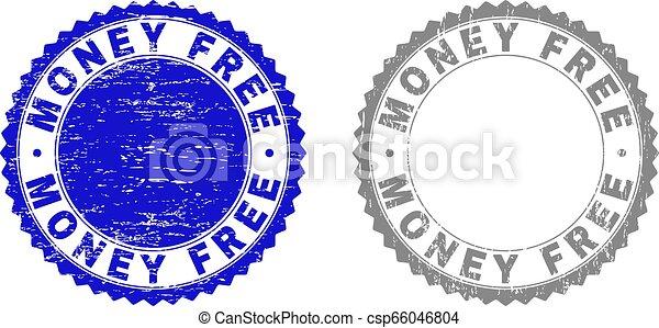 Grunge MONEY FREE Textured Watermarks - csp66046804