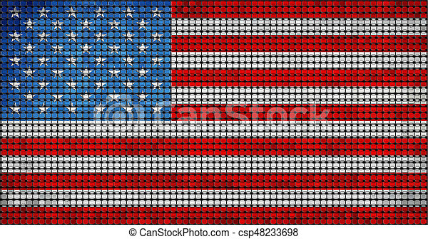 Grunge mosaic flag of USA with effect - csp48233698