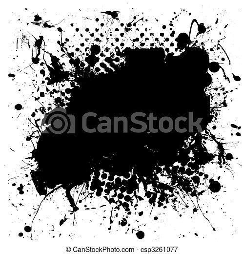 grunge mottled ink splat - csp3261077