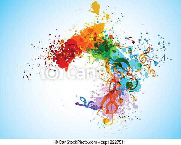 Grunge music background - csp12227511