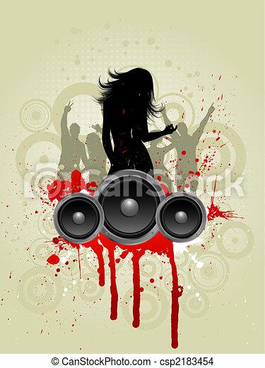 Grunge music - csp2183454