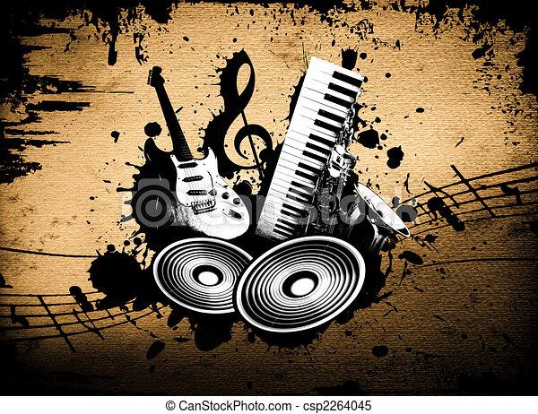 Grunge Music - csp2264045
