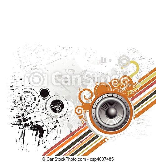 grunge music theme  - csp4007485