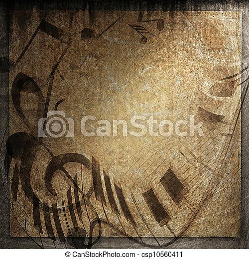 grunge musical background - csp10560411