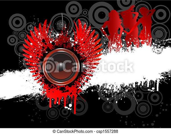 grunge, musique - csp1557288