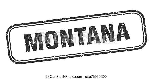 grunge, negro, señal, montana, stamp., aislado - csp75950800