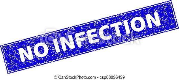 Grunge NO INFECTION Textured Rectangle Stamp - csp88036439
