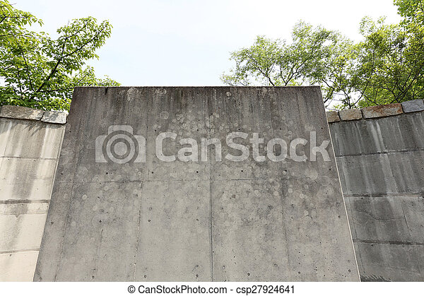 grunge of concrete walls - csp27924641