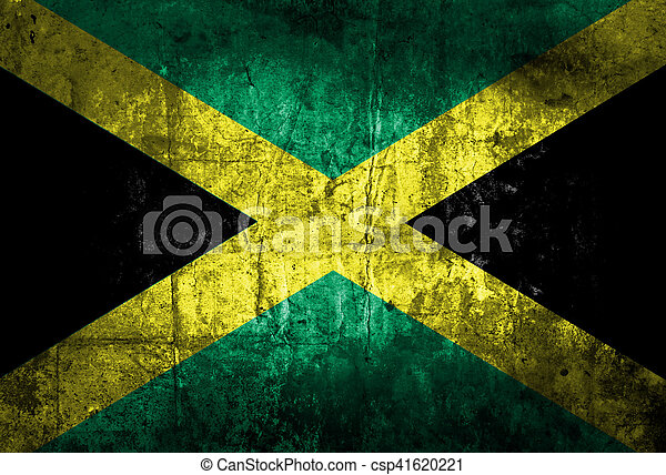 grunge of Jamaica flag - csp41620221