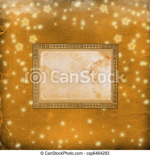 Grunge old cover with stars for album  - csp6464293