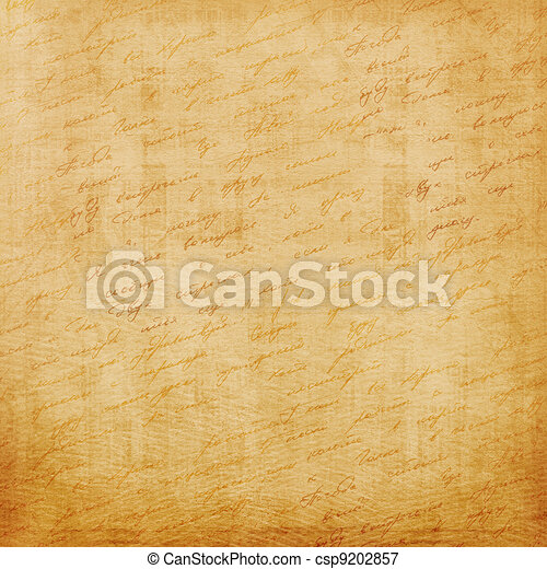 Grunge old paper design in scrap booking style with handwriting - csp9202857