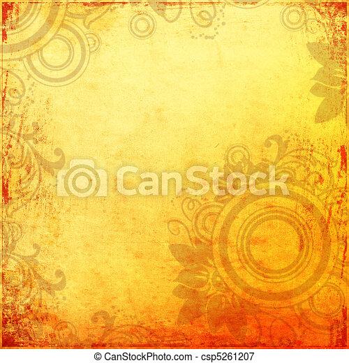 Grunge orange background - csp5261207