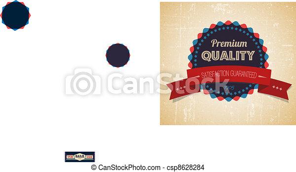 grunge, ouderwetse , verkoop, etiket, vector, retro, oud - csp8628284
