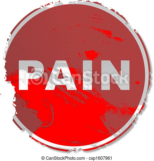 grunge pain sign - csp1607961