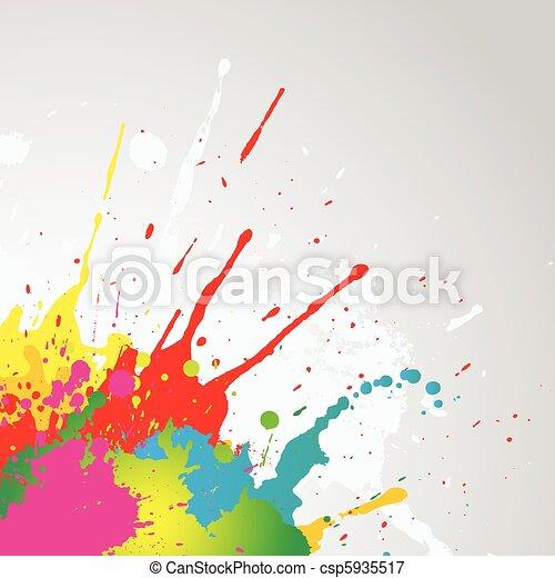 Grunge paint splat background - csp5935517