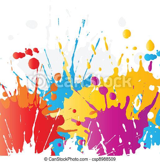 Grunge paint splats - csp8988509