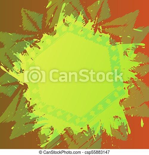grunge paintbrush background over vintage floral ornament old