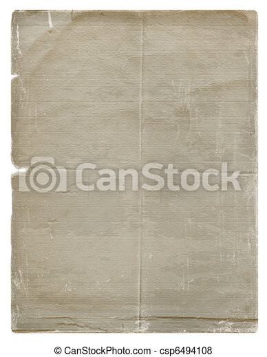 Grunge paper design in scrapbooking style on the white isolated background - csp6494108
