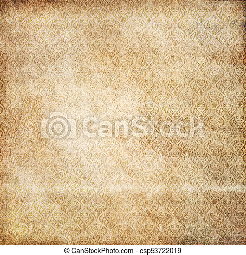 Grunge Paper Texture With Old Fashioned Patterns