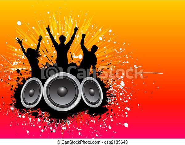 Grunge party background  - csp2135643
