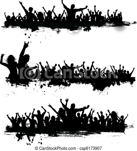 Grunge party crowds - csp6173907