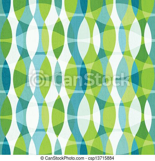 Las curvas verdes están sin costura con efecto grunge - csp13715884