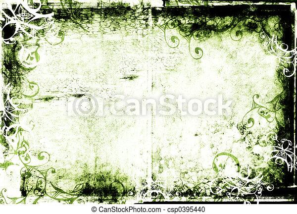 grunge photographic frame - csp0395440