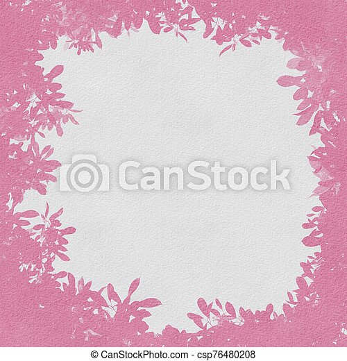 Grunge pink flowers with abstract textured background - csp76480208