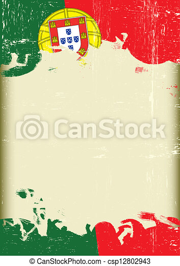 Grunge Portugal flag - csp12802943
