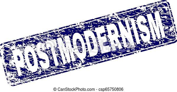 Grunge POSTMODERNISM Framed Rounded Rectangle Stamp - csp65750806