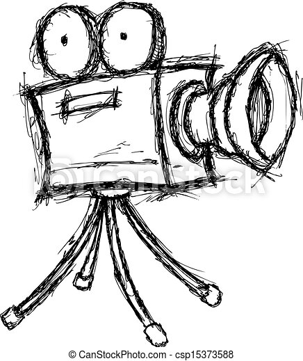 grunge projector doodle - csp15373588