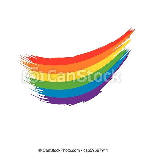 Grunge rainbow flag - csp59667911