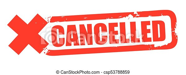 Grunge red cancelled square rubber seal stamp on white background - csp53788859